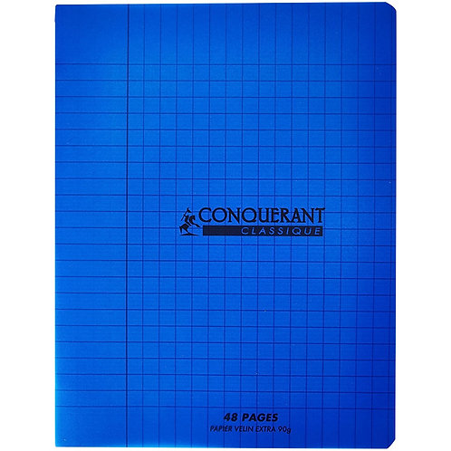 Conquerant  - Cahier Polypro bleu 48 pages (17 x 22 - Seyes - 90g)