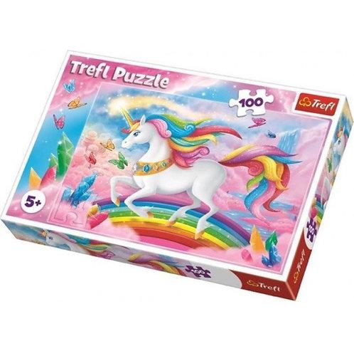 "Puzzles - ""100"" - Into the crystal world of unicorns / Trefl"
