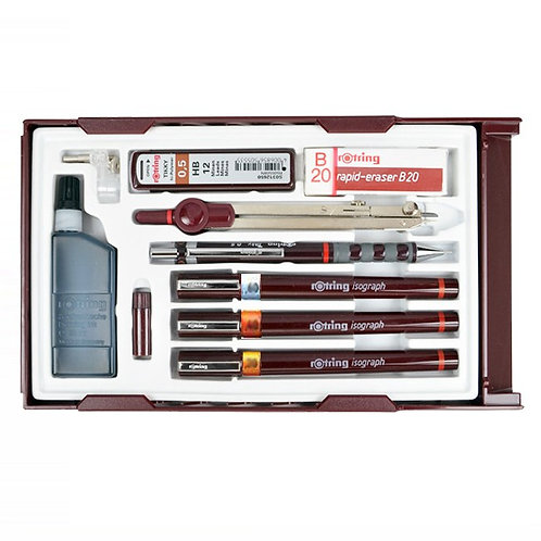 Rotring Isograph College Set 3 - 0.2,0.4,0.6
