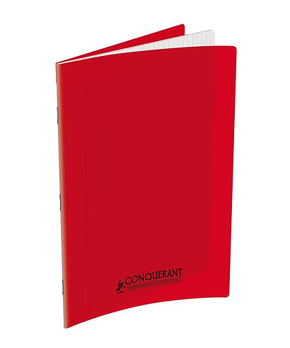 Conquerant Cahier Polypro 24X32 96P 90G Seyes Rouge