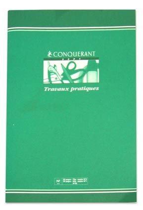 Conquerant Cahier Cartonnee A4 (21x29,7) Travaux Pratiques 64P 90G Seyes