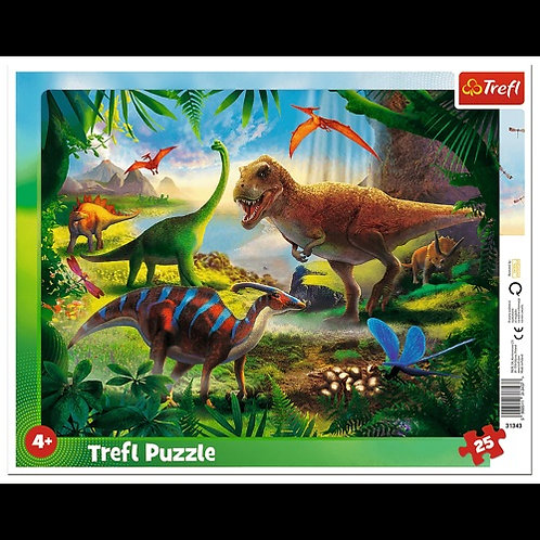 """Puzzles - """"25 Frame"""" - Dinosaurs"""