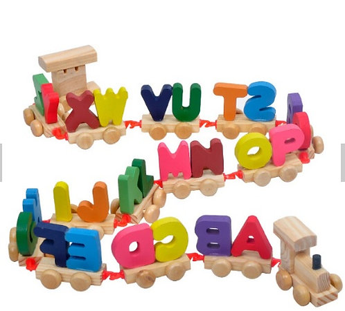 Wooden Alphabet Train ABC