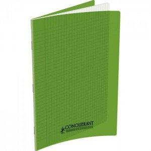 Conquerant Cahier Polypro 24X32 96P 90G Seyes Vert