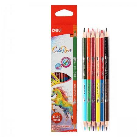 Deli Colored Pencil Dual  6 Colors