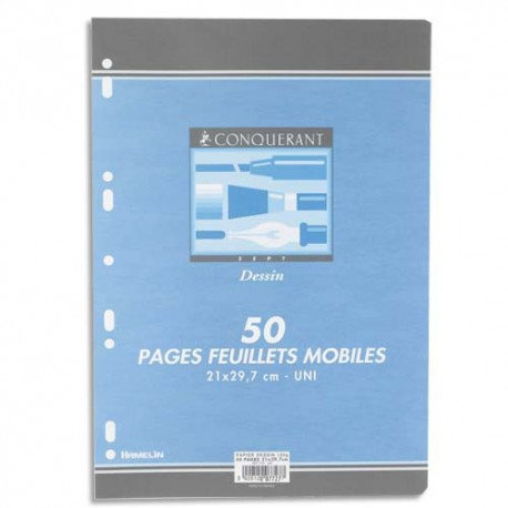 Conquerant  - Papier dessin format A4 (50 Feuillets)
