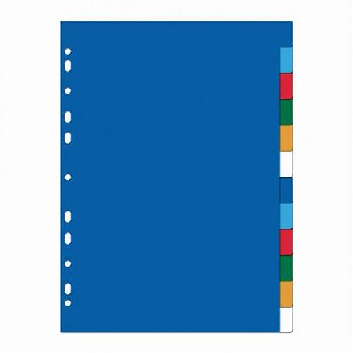 Intercalaires 12 positions - (21x29,7cm, en plastique)