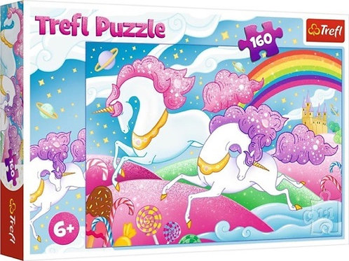 "Puzzles - ""160"" - Galloping unicorns / Trefl"