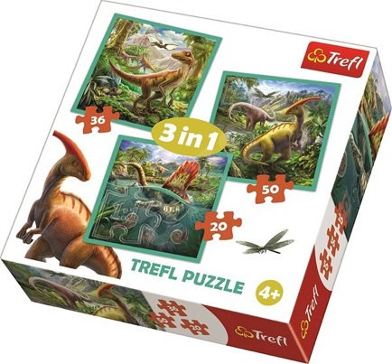 "Puzzles - ""3in1"" - The extraordinary world of dinosaur"