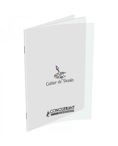 Conquerant  -  Cahier de dessin (24x32) - (48pages) 120g