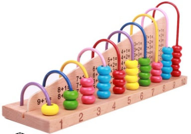 Wooden Abacus Counting Beads