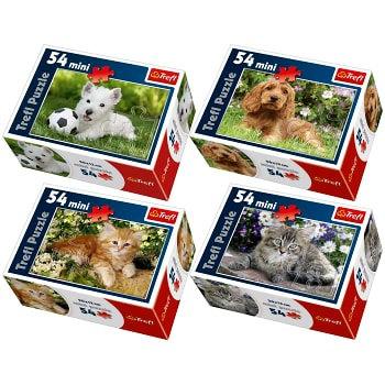 """Puzzles - """"54 Mini"""" - Cute pets"""