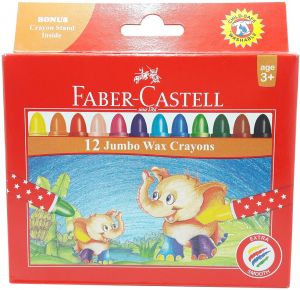 Faber Castel Wax Crayon Jumbo Set Of 12
