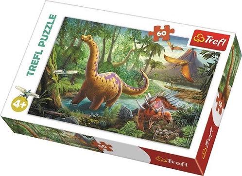 "Puzzles - ""60"" - Dinosaur Migration / Trefl"