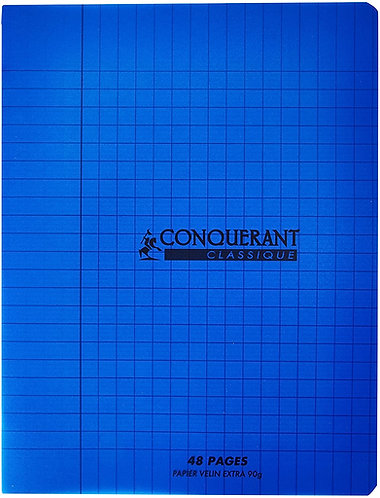 Conquerant Cahier Polypro 17X22 48P 90G Seyes Blue