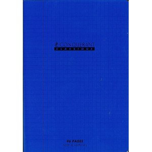 Conquerant - Cahier Polypro bleu 96 pages (17x22 - Seyes - 90g)