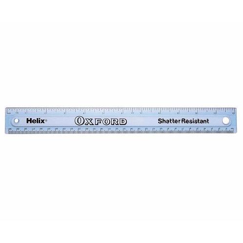 Helix 12/30cm Shatter Resistant Ruler