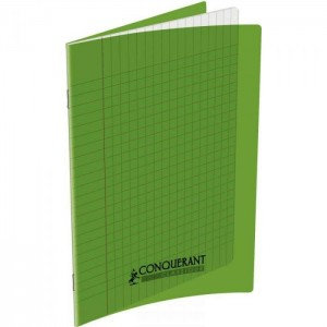 Conquerant Cahier Polypro A4 (21x29,7) 96p 90g Seyes Vert