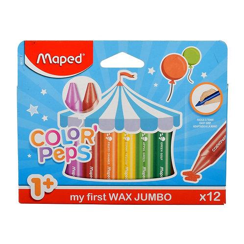 Maped Crayon Cire Jumbo Color Peps x12