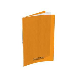 Cahier Conquerant 17x22 Polypro Orange 90g 96pages Grands Carreaux (Seyes)