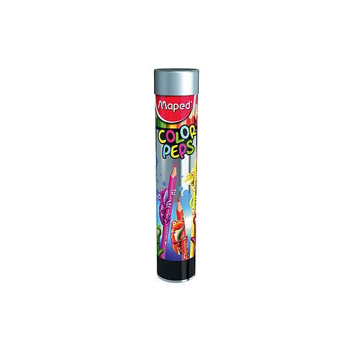 Maped Crayons Color Peps x 12 Tube Metal