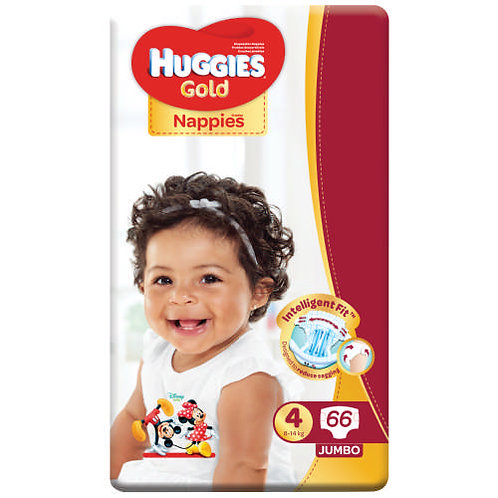 Huggies Gold Size 4 (8-14Kg)-(Pack of 66)
