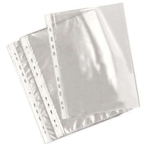Deli - lot 50 pochettes perforées transparentes A4