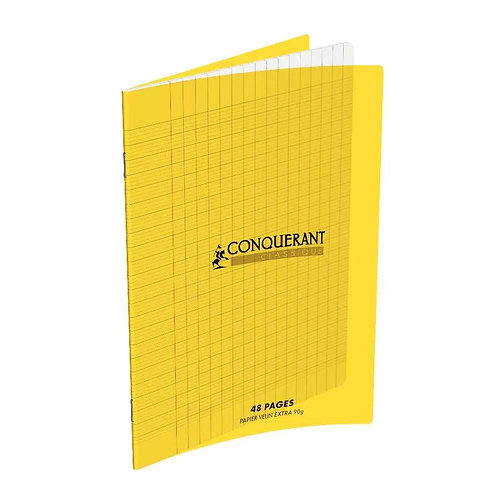Conquerant Cahier Polypro 17X22 48P 90G Seyes Jaune