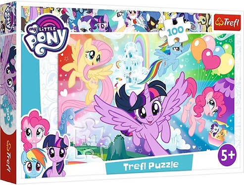 "Puzzles - ""100"" - Rainbow landscape / Hasbro, My Little Pony"