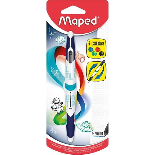 Maped Stylo Bille Medium 4 Couleur Twin Tip