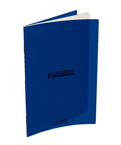 Cahier Conquerant A4 Polypro Bleu 90g 96pages Grands Carreaux (Seyes)