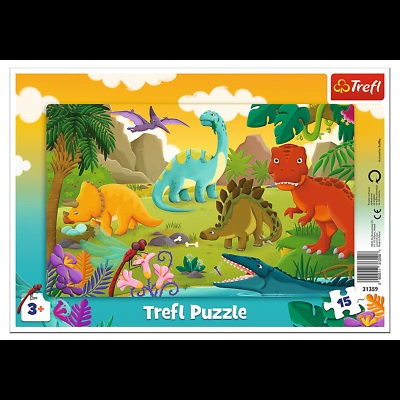 """Puzzles - """"15 Frame"""" - Dinosaurs"""