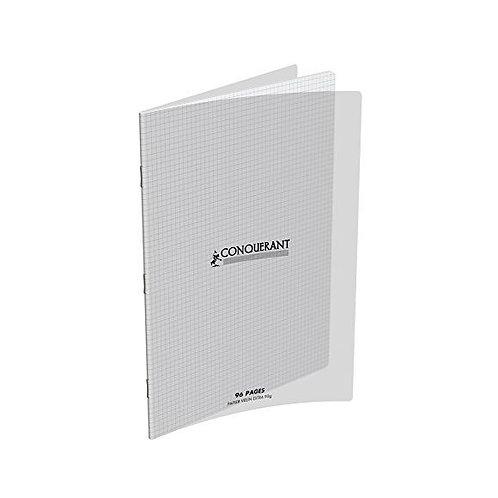 Cahier Polypro transparent 96 Pages (24x32 - petits carreaux -5x5 - 90g)