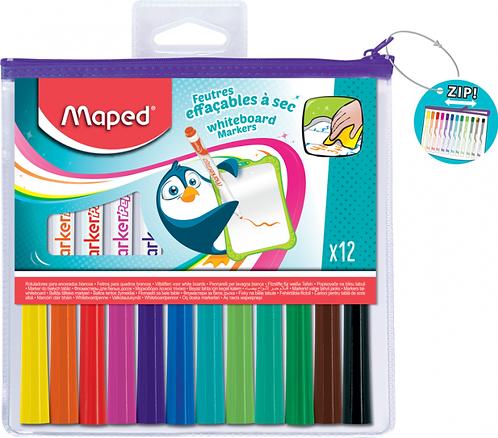 Maped Marker Effacable A Sec Couleur Assortis x12