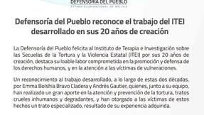 Defensoría del Pueblo destaca la labor del ITEI en sus 20 Aniversario