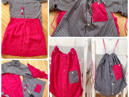 Von Herrenhemd und Damenrock zu Zwillings-Bag