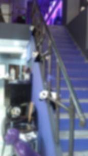 Перила на лестницу в салон красоты
