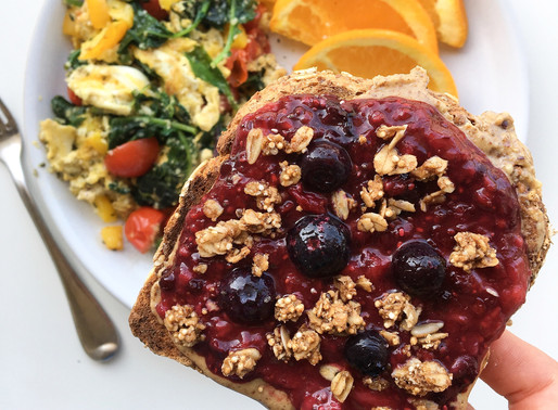 homemade jam + pb toast