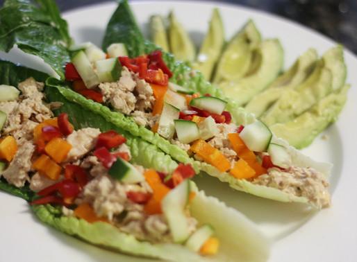 tuna & bell pepper lettuce wraps