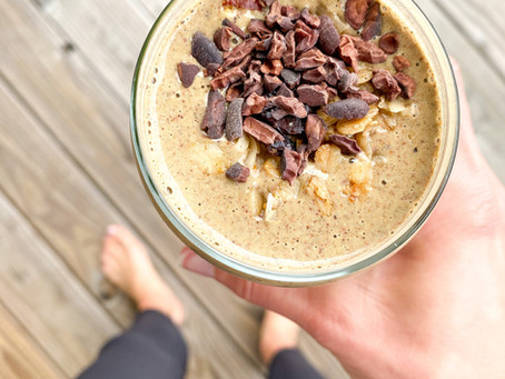chocolate protein smoothie!