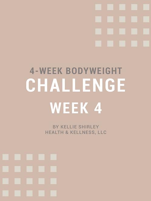 4-Week Bodyweight Challenge - Week 4