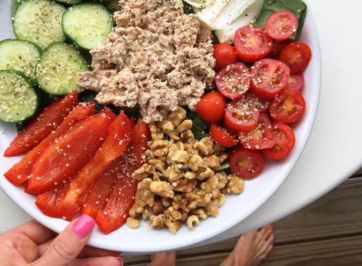 tuna walnut salad
