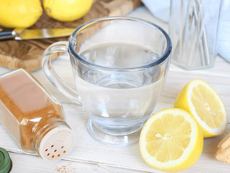 morning routine: warm lemon water with cayenne