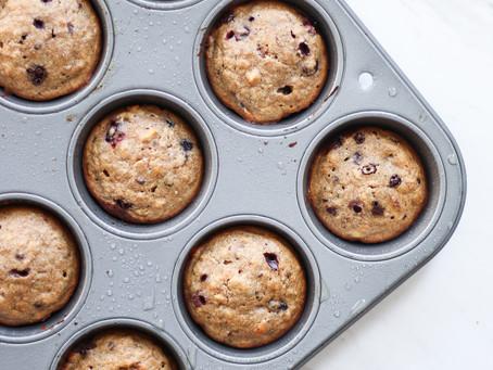 banana blueberry collagen muffins
