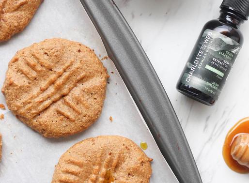 peanut butter CBD cookies