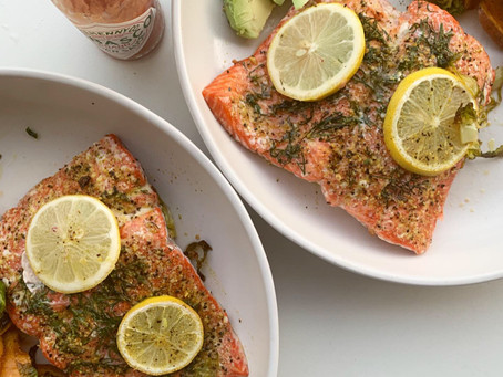 lemon + dill sheet pan salmon