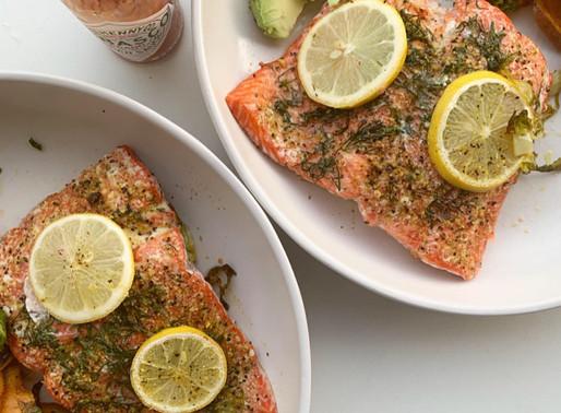 lemon + dill sheet pan salmon