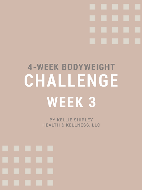 4-Week Bodyweight Challenge - Week 3