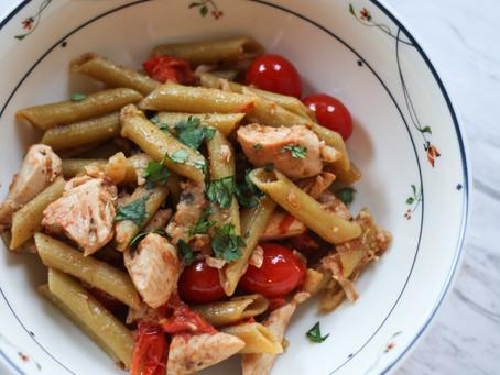 chicken cilantro lentil pasta