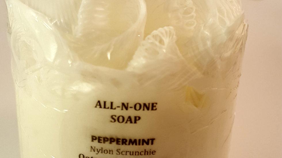 ALL-N-ONE SOAP Oatmeal Shea with Peppermint
